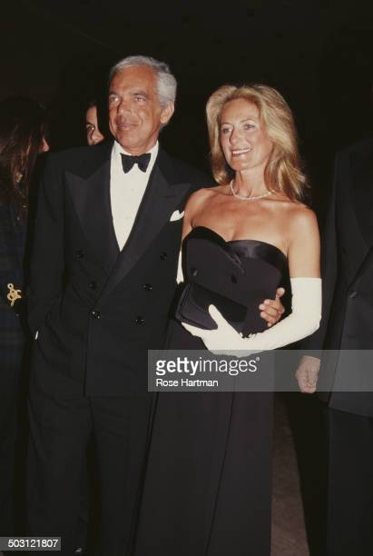 American fashion designer Ralph Lauren and his wife Ricky attend the Met Gala at the Metropolitan Museum of Art, New York City, circa 1993.