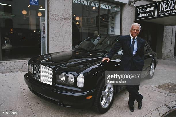 American fashion designer Ralph Lauren at a Bentley showroom New York City 10th May 2000 Lauren has designed interiors for Bentley motorcars