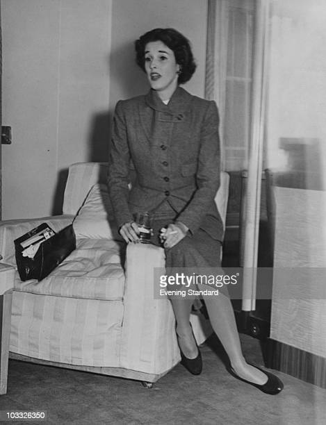 American fashion editor and socialite Barbara 'Babe' Cushing Mortimer around the time of her divorce from her first husband Stanley Grafton Mortimer...