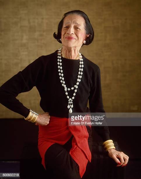 American fashion editor Diana Vreeland New York 1981