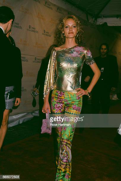American fashion model Amber Valletta attends the VH1/Vogue Magazine Fashion Awards at the 69th Regiment Armory New York City USA 1999