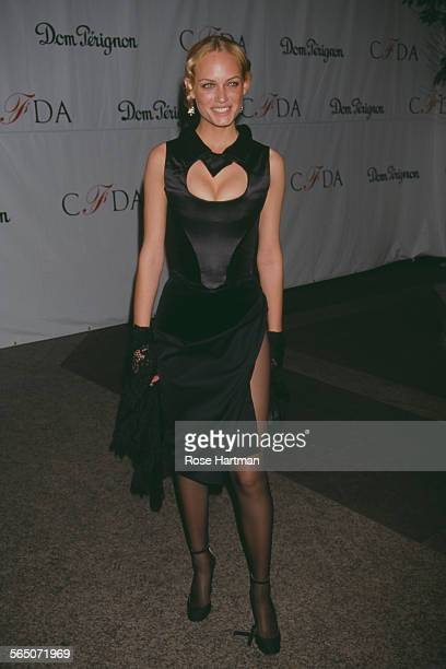 American fashion model and actress Amber Valletta attends the CFDA Awards at the Cipriani Hotel New York City USA circa 1998