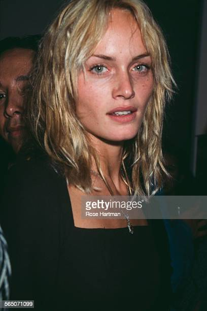 American fashion model and actress Amber Valletta attends the Kate Moss book party circa 1995