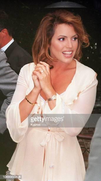 American fashion model and playmate Sandra Taylor, circa 1995.