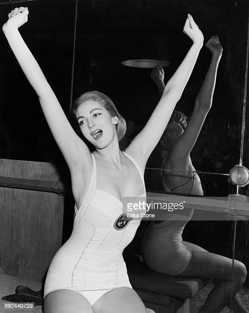American fashion model Carmen Dell'Orefice circa 1950