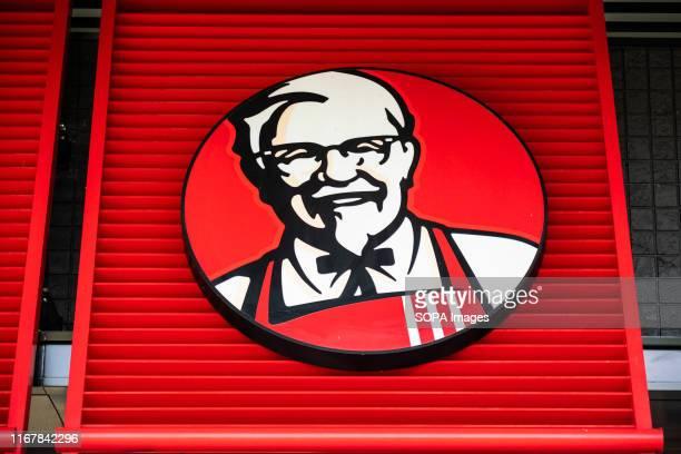 American fast food restaurant chain Kentucky Fried Chicken or KFC logo seen in Shanghai