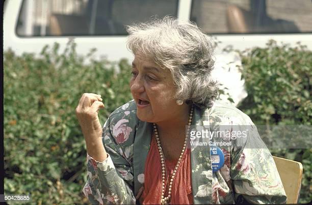 American Feminist Betty Friedan attending Forum 1985 women's conference