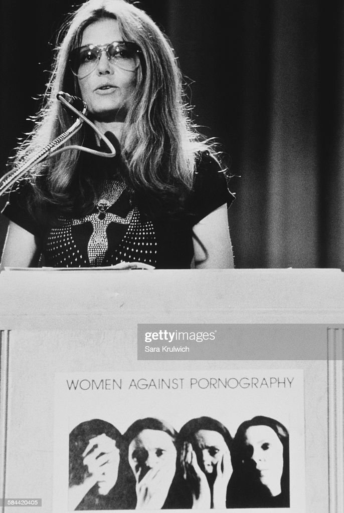 American feminist, journalist and political activist, Gloria Steinem speaking at a Women Against Pornography conference at Martin Luther King Jr High School, New York City, 15th September 1979.