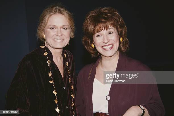 American feminist journalist Gloria Steinem and comedian Joy Behar circa 1995