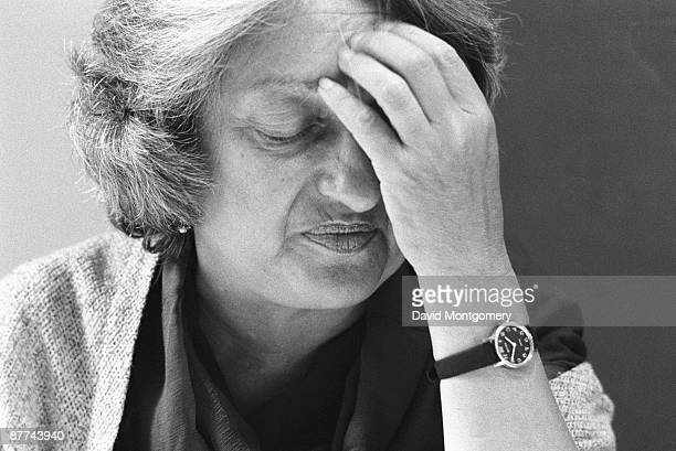 American feminist writer Betty Friedan circa 1975