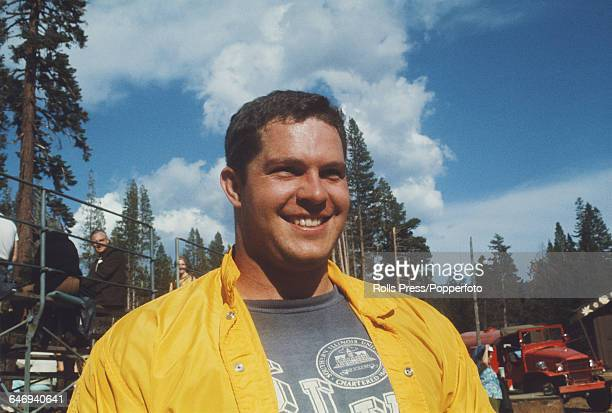 American field athlete and shotputter George Woods pictured attending the United States Olympic Trials at Echo Summit in California in September 1968...