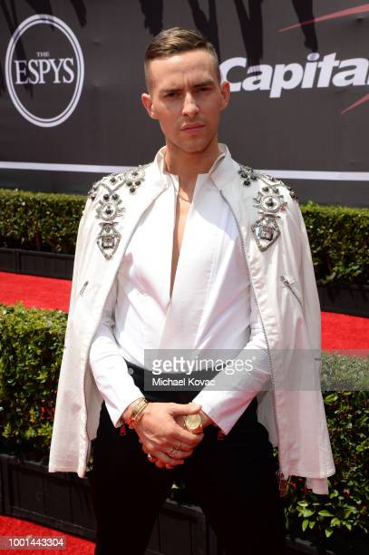 American figure skater Adam Rippon attends the 2018 ESPY Awards Red Carpet Show Live! Celebrates With Moet & Chandon at Microsoft Theater on July 18,...