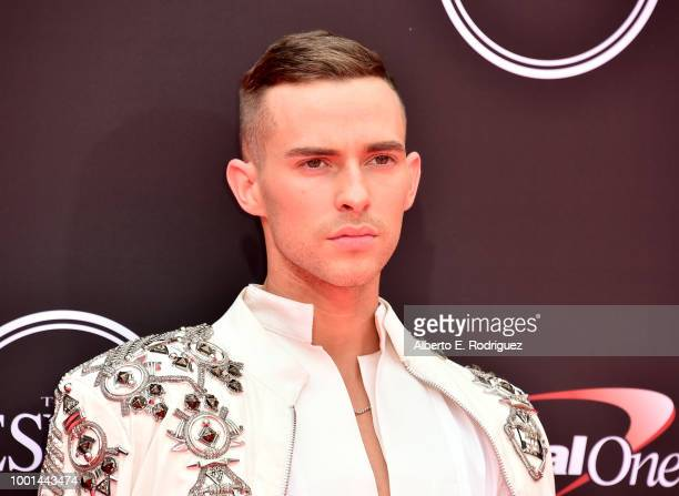 American figure skater Adam Rippon attends The 2018 ESPYS at Microsoft Theater on July 18, 2018 in Los Angeles, California.