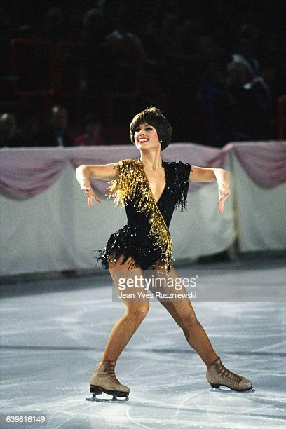 American figure skater Dorothy Hamill