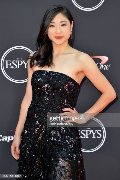 American figure skater Mirai Nagasu attends The 2018 ESPYS at Microsoft Theater on July 18 2018 in Los Angeles California