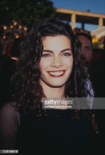 American figure skater Nancy Kerrigan attends 22nd Annual American Music Awards, held at the Shrine Auditorium in Los Angeles, California, 30th...