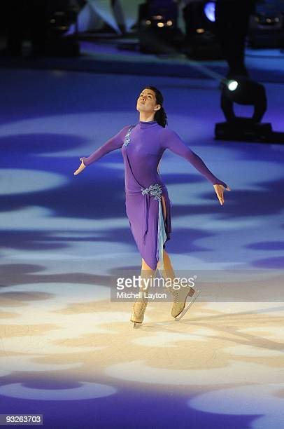 American figure skater Nancy Kerrigan performs during Kaleidoscope a show being taped for FOX television on November 16 2007 at the Verizon Center in...