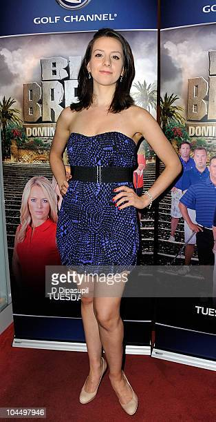 American figure skater Sarah Hughes attends the Golf Channel's Big Break Dominican Republic screening at Le Cirque on September 27 2010 in New York...