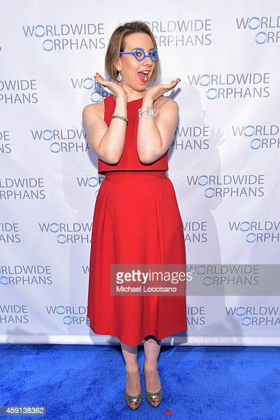 American Figure Skater Sarah Hughes attends the Worldwide Orphans' 10th Annual Gala Hosted by Katie Couric at Cipriani Wall Street on November 17...