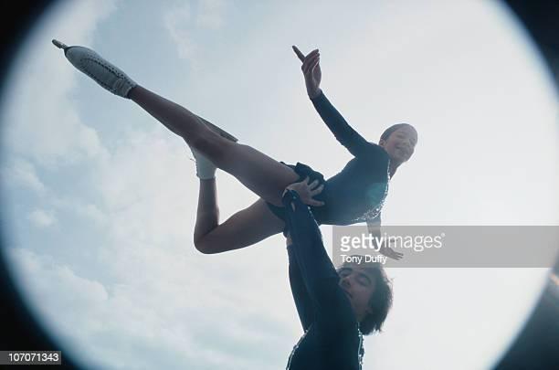 American figure skating duo Randy Gardner and Tai Babilonia November 1976
