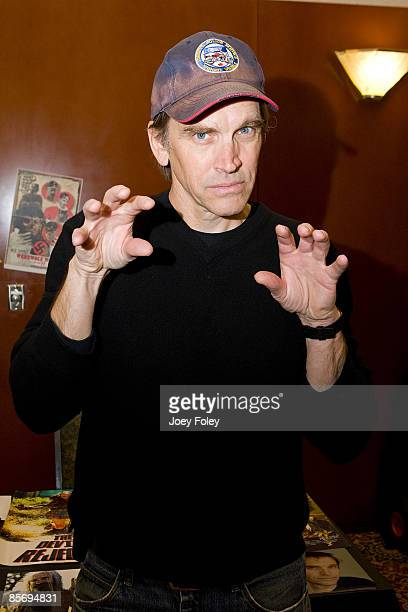 American film actor and musician Bill Moseley attends HorrorHound Weekend Indianapolis Day 3 at Marriot Indianapolis East on March 29 2009 in...