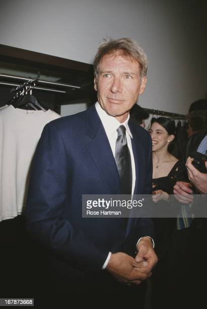 American film actor and producer Harrison Ford in the Cerruti store 1998