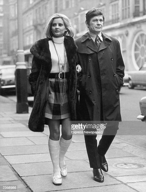 American film actor Charles Bronson in London with his actress wife Jill Ireland in 1969