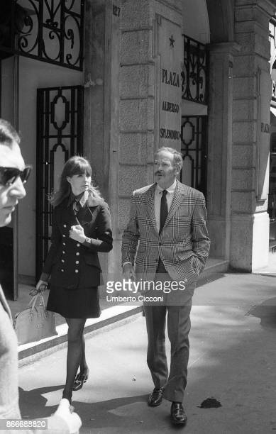 American film actor Henry Fonda walking in Via Condotti with his 35 years old wife Shirlee Adams He is in Rome to work on the movie 'Once Upon a Time...