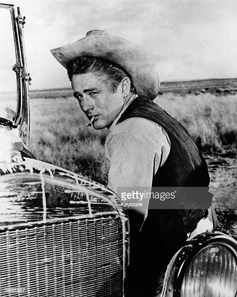 American film actor James Bryon Dean as Jett Rink in the Warner Brothers film 'Giant' directed by George Stevens