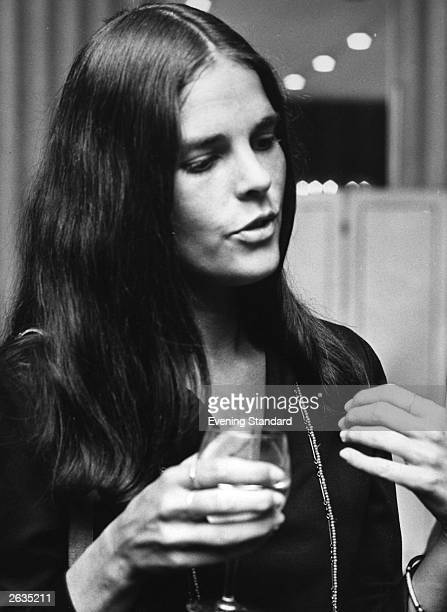 American film actress Ali MacGraw midconversation