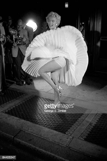 American film actress and sex symbol Marilyn Monroe on location during the filming of 'The Seven Year Itch' New York New York September 14th and 15th...