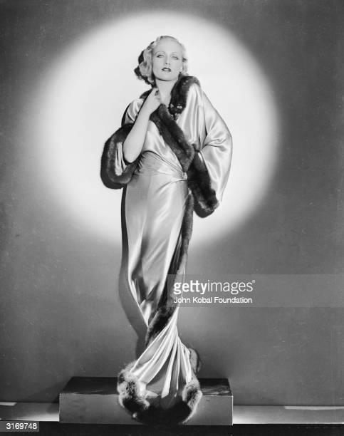 American film actress Carole Lombard revels in the spotlight