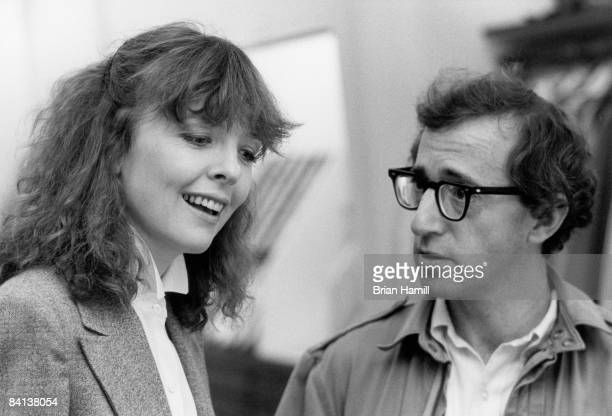 American film actress Diane Keaton and film director actor and writer Woody Allen in a scene from his film 'Manhattan' New York New York 1979