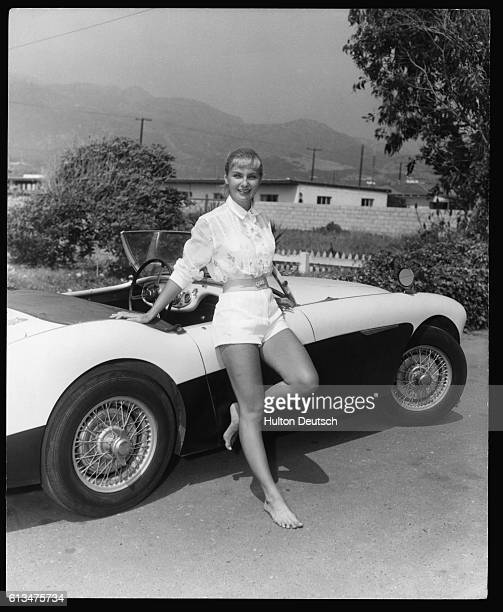 American film actress Joanne Woodward in Hollywood ca 1957