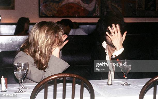 American film actress Kim Basinger with singer Prince circa 1988