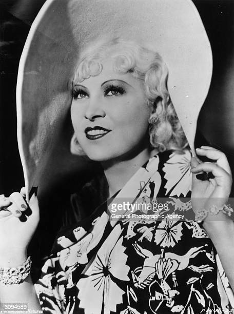 American film actress Mae West.
