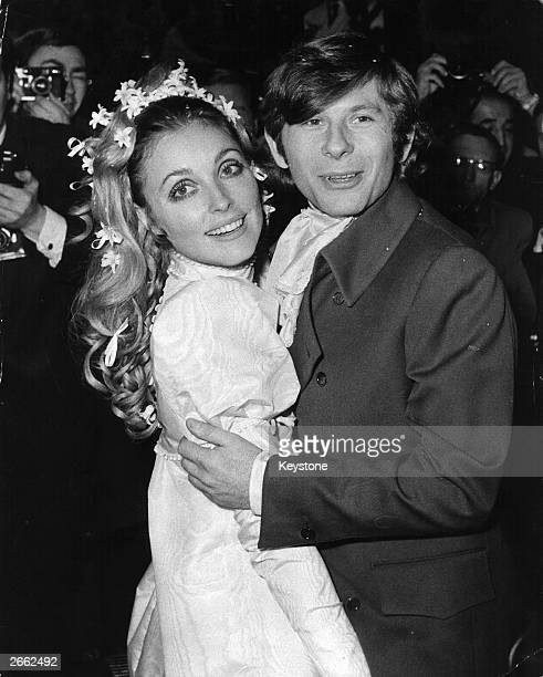 American film actress Sharon Tate at her London wedding with Polish actor and director Roman Polanski Sharon was murdered by followers of Charles...