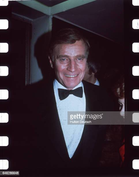 American film and stage actor Charlton Heston attending the British Academy Film and Televsion Arts awards