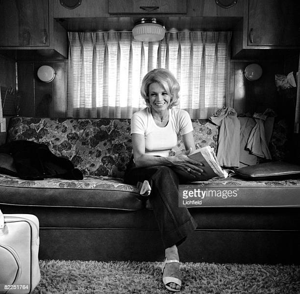 American film and television actress Angie Dickinson photographed at home in California in October 1974