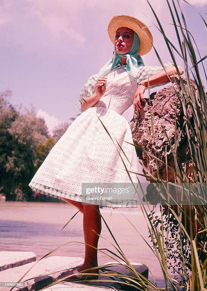 American film and television actress Rita Game in Spain,1972, Madrid, Spain.