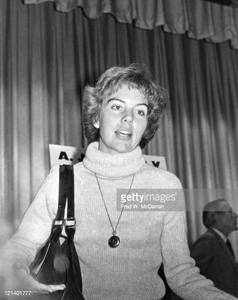 American film critic and journalist Molly Haskell attends a journalism conference New York New York November 19 1976