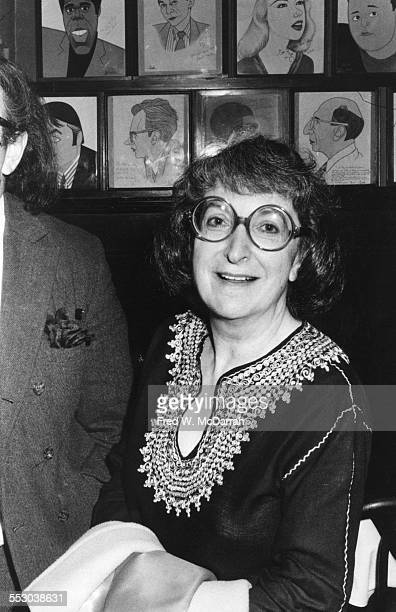 American film critic Pauline Kael attends an event at Sardi's New York New York mid 1970s