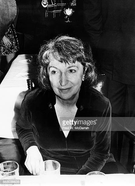 American film critic Pauline Kael attends an unspecified event New York New York 1980s or 1990s