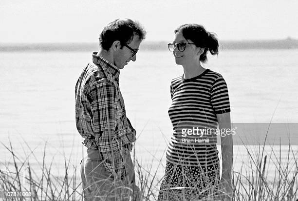 American film director and actor Woody Allen and actress Diane Keaton in a scene Allen's movie 'Annie Hall' Long Island New York 1977