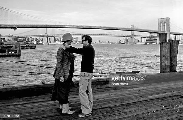 American film director and actor Woody Allen and actress Diane Keaton in a scene Allen's movie 'Annie Hall' New York New York 1977