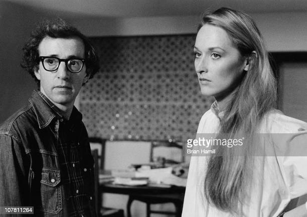 American film director and actor Woody Allen and actress Meryl Streep in a scene from Allen's movie 'Manhattan' New York New York 1979