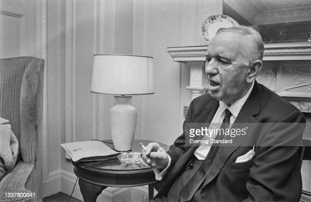 American film director and musical choreographer Busby Berkeley , UK, 17th December 1965.