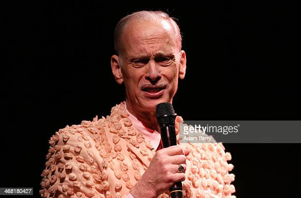 American film director and screenwriter John Waters performs his oneman show 'This Filthy World' at the Volksbuehne on February 9 2014 in Berlin...