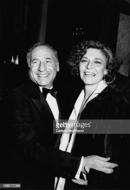 American film director and screenwriter Mel Brooks with his wife actress Anne Bancroft at the American Ballet Theater in the Beverly Wilshire Hotel...