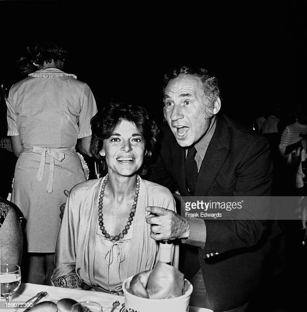 American film director and screenwriter Mel Brooks with his wife actress Anne Bancroft during Shirley MacLaine's new show 'If They Could See Me Now'...